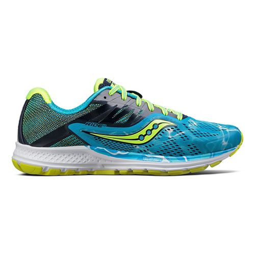 Womens Saucony Ride 10 Running Shoe - Ocean Wave 7