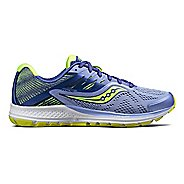Womens Saucony Ride 10 Running Shoe - Purple/Citron 5