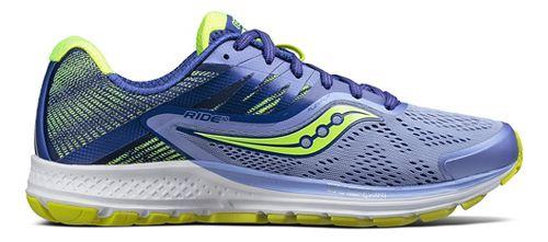 Womens Saucony Ride 10 Running Shoe - Purple/Citron 5