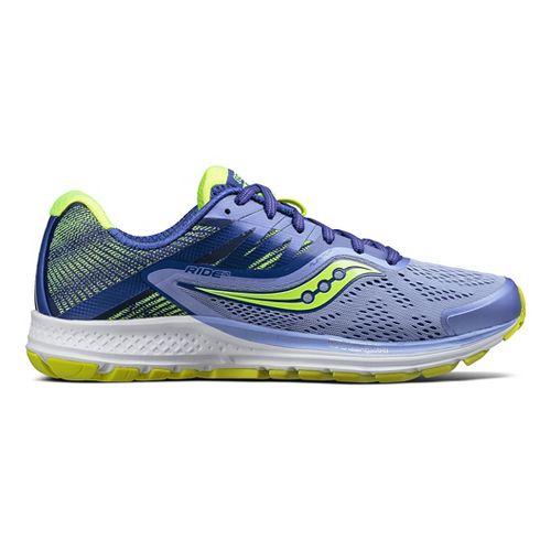 Womens Saucony Ride 10 Running Shoe - Purple/Citron 9