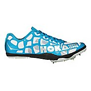 Mens Hoka One One Rocket LD Track and Field Shoe - White/Cyan 13