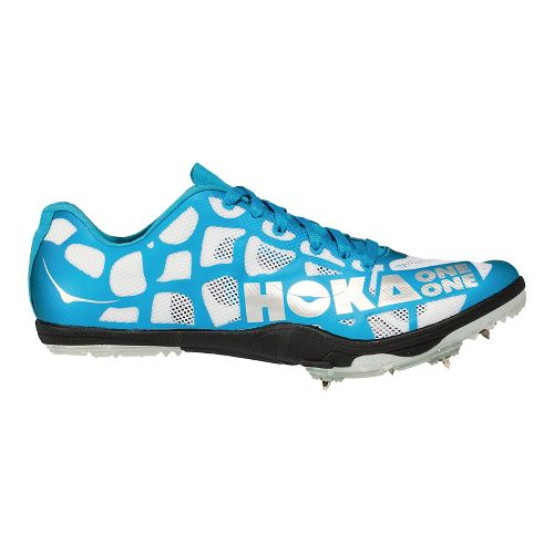 Mens Hoka One One Rocket LD Track and Field Shoe - White/Cyan 8.5