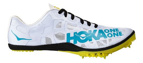 Mens Hoka One One Rocket MD Track and Field Shoe - Black/Cyan 7.5