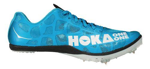 Mens Hoka One One Rocket MD Track and Field Shoe - Cyan/White 8.5