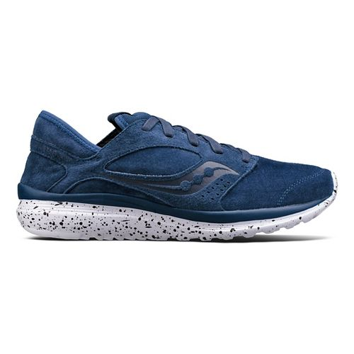 Mens Saucony Kineta Relay Suede Casual Shoe - Navy 8.5