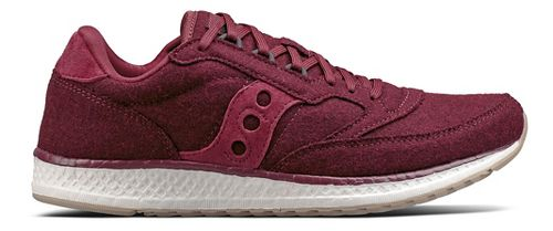 Womens Saucony Freedom Runner Wool Casual Shoe - Burgundy 6.5
