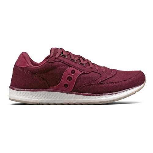 Womens Saucony Freedom Runner Wool Casual Shoe - Burgundy 5