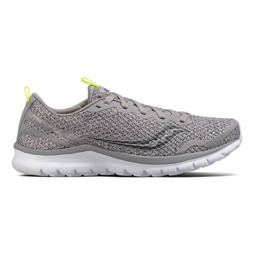 Mens Saucony Liteform Feel Casual Shoe - Grey/Grey 8.5