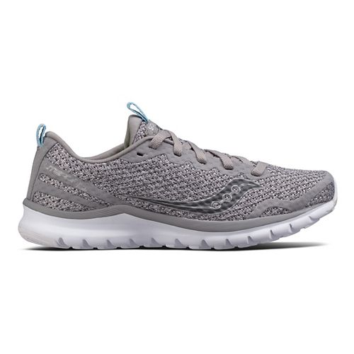Womens Saucony Liteform Feel Casual Shoe - Grey 10.5