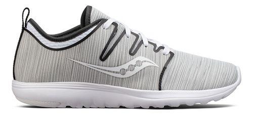 Womens Saucony Eros Lace Casual Shoe - Grey Stripe 7