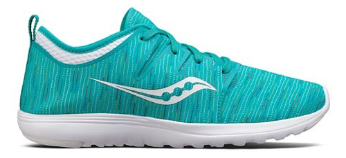 Womens Saucony Eros Lace Casual Shoe - Teal/Multi 5.5