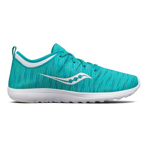 Womens Saucony Eros Lace Casual Shoe - Teal/Multi 7