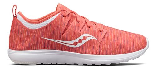 Womens Saucony Eros Lace Casual Shoe - Coral/Multi 5