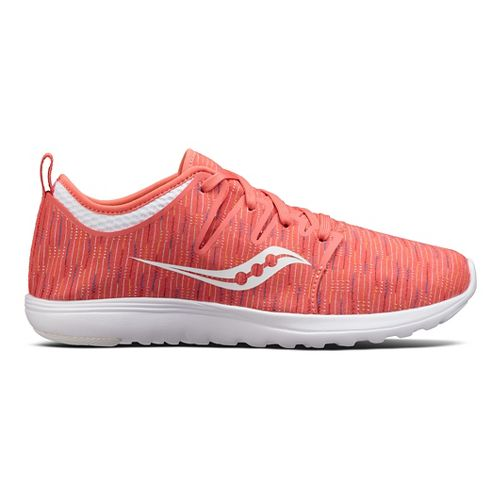 Womens Saucony Eros Lace Casual Shoe - Coral/Multi 5.5