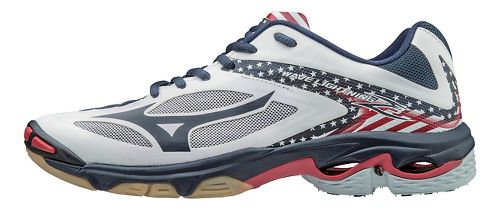 Mens Mizuno Wave Lightning Z3 Court Shoe - Star/Stripes 12.5