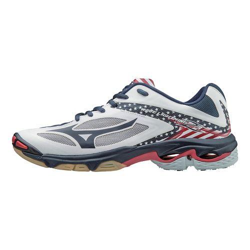 Mens Mizuno Wave Lightning Z3 Court Shoe - Star/Stripes 10.5