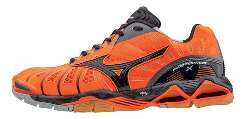 Mens Mizuno Wave Tornado X Court Shoe - Orange/Black 10
