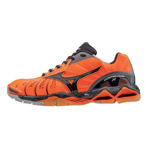 Mens Mizuno Wave Tornado X Court Shoe - Orange/Black 11.5