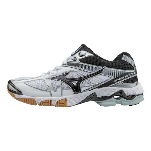 Mens Mizuno Wave Bolt 6 Court Shoe - White/Black 10.5