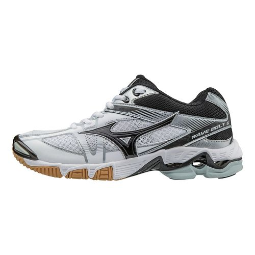 Mens Mizuno Wave Bolt 6 Court Shoe - White/Black 7.5