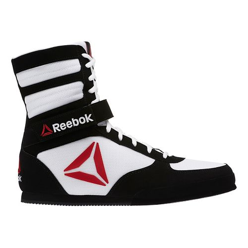 Mens Reebok Boxing Boot - Buck Cross Training Shoe - White/Black 7