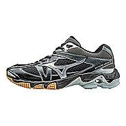 Womens Mizuno Wave Bolt 6 Court Shoe - Black/Silver 6.5