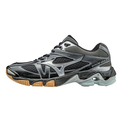 Womens Mizuno Wave Bolt 6 Court Shoe - Black/Silver 9