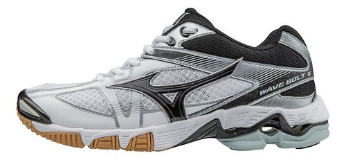 Womens Mizuno Wave Bolt 6 Court Shoe - White/Black 8