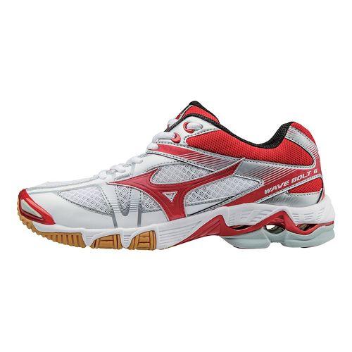 Womens Mizuno Wave Bolt 6 Court Shoe - White/Red 9.5