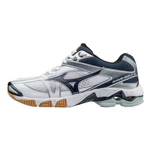 Womens Mizuno Wave Bolt 6 Court Shoe - White/Navy 9.5