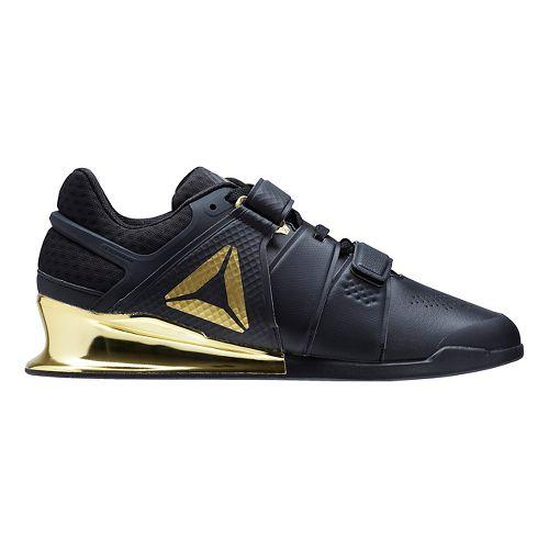 Mens Reebok Legacy Lifter Cross Training Shoe - Black/Gold 8