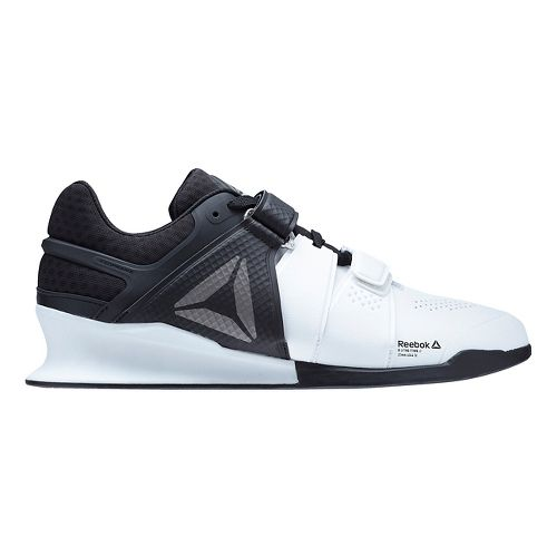 Mens Reebok Legacy Lifter Cross Training Shoe - White/Black 10
