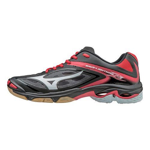 Womens Mizuno Wave Lightning Z3 Court Shoe - Black/Red 8