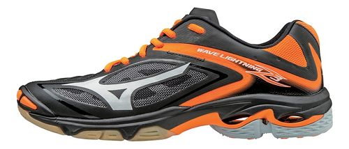 Womens Mizuno Wave Lightning Z3 Court Shoe - Black/Orange 7.5