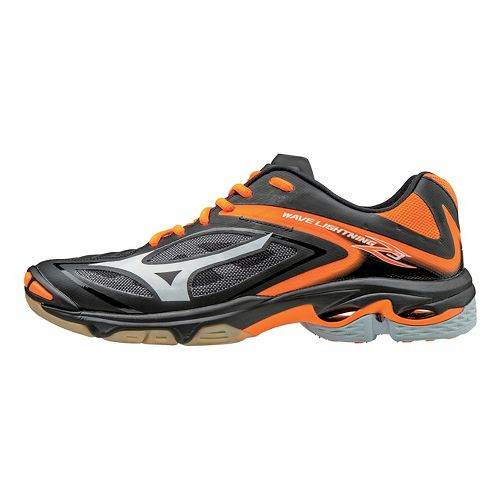 Womens Mizuno Wave Lightning Z3 Court Shoe - Black/Orange 12