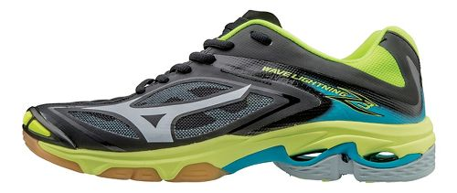 Womens Mizuno Wave Lightning Z3 Court Shoe - Black/Silver 10