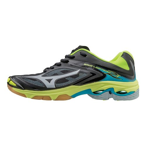 Womens Mizuno Wave Lightning Z3 Court Shoe - Black/Yellow 9