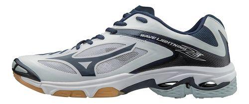 Womens Mizuno Wave Lightning Z3 Court Shoe - White/Navy 9.5