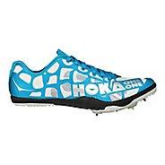 Womens Hoka One One Rocket LD Track and Field Shoe - White/Blue 9