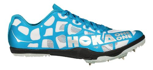 Womens Hoka One One Rocket LD Track and Field Shoe - White/Blue 10