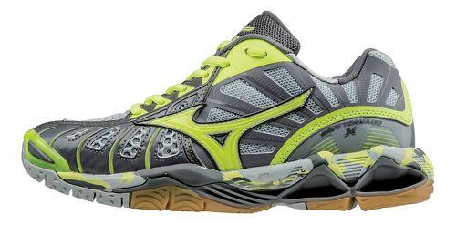 Womens Mizuno Wave Tornado X Court Shoe - Grey/Yellow 9.5