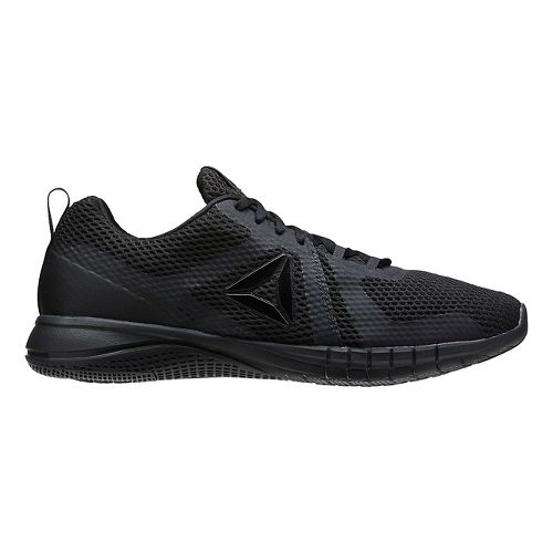 Mens Reebok Print Run 2.0 Running Shoe - Black/Coal 7.5