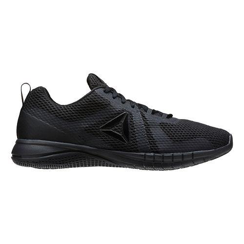 Mens Reebok Print Run 2.0 Running Shoe - Black/Coal 8.5