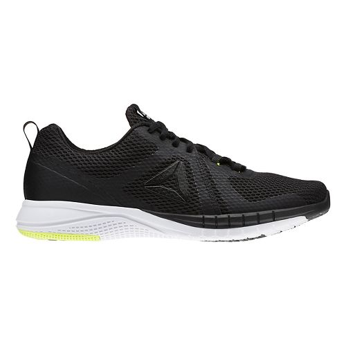 Mens Reebok Print Run 2.0 Running Shoe - Black/White 9
