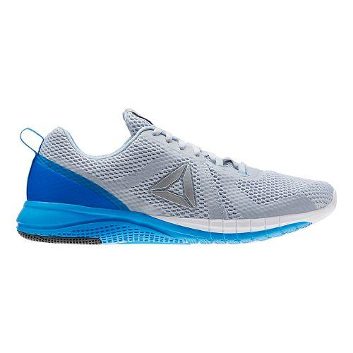 Mens Reebok Print Run 2.0 Running Shoe - Grey/Blue 10.5