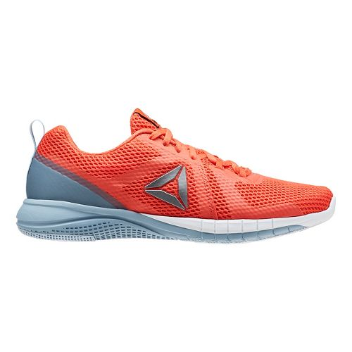 Mens Reebok Print Run 2.0 Running Shoe - Orange/Grey 9