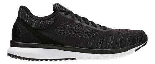 Mens Reebok Print Smooth ULTK Running Shoe - Black/Alloy 10