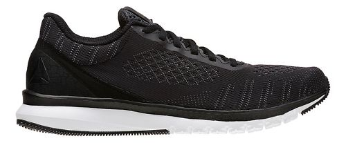 Mens Reebok Print Smooth ULTK Running Shoe - Black/Alloy 11