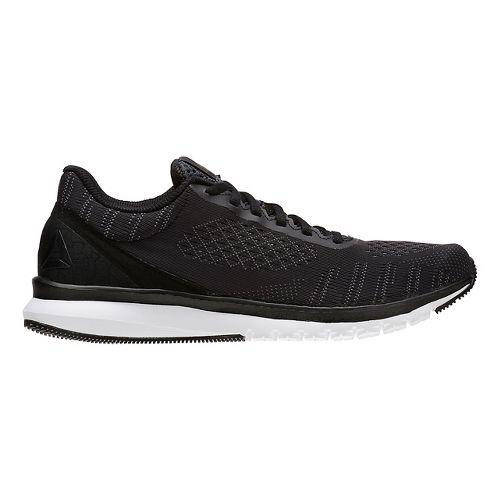Mens Reebok Print Smooth ULTK Running Shoe - Black/Alloy 10.5
