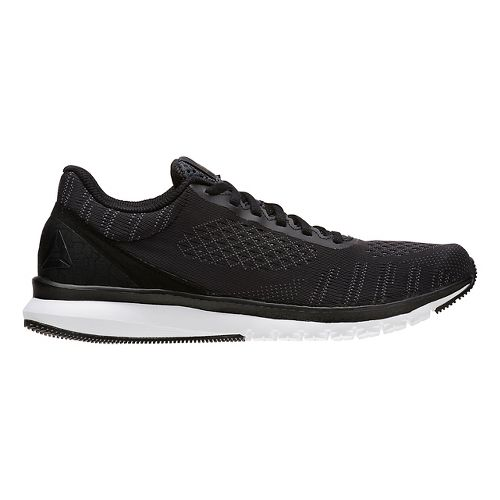 Mens Reebok Print Smooth ULTK Running Shoe - Black/Alloy 12